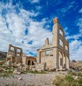 Rhyolite Ghost Town Bank Ruins Royalty Free Stock Photo