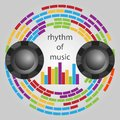 Rhythm of music in the logo or background Stock Photo