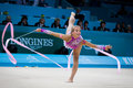 Rhythmic gymnastics world championship kyiv ukraine august emilie holte of norway performs during nd on august in kyiv ukraine Stock Image