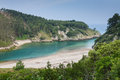 Ria Tina Minor. Nansa River mouth. Municitabria.pality of Val de San Vicente, Cantabria, Royalty Free Stock Photo