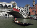 Rialto Bridge - Grand Canal - Venice - Italy Stock Image