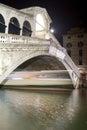 Rialto Bridge Night Scene