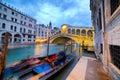 Rialto Bridge at Night, Venice, Italy Royalty Free Stock Photo