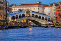 Rialto bridge in Venice Italy Royalty Free Stock Photo