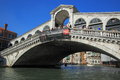 Rialto bridge venice italy september during the famous festival biennale arte Stock Photo