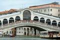 Rialto Bridge in Venice - Italy. Royalty Free Stock Photo
