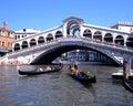 Rialto Bridge, Venice. Royalty Free Stock Photo