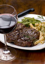Rib Eye Steak Dinner 4 Royalty Free Stock Image
