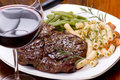 Rib Eye Steak Dinner 5 Royalty Free Stock Photos