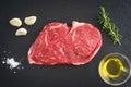 Rib eye steak Royalty Free Stock Photo