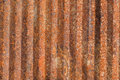 Ribbed rusty metal background surface Stock Images