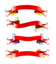 Ribbions, gift, red bow Stock Image