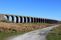 Ribblehead viaduct north yorkshire england view of on the famous settle to carlisle railway line looking from the road that passes Stock Photography