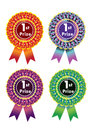 Ribbon award with different colour Stock Photography