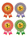 Ribbon award with different colour Royalty Free Stock Photos