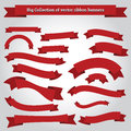 Ribbon banners vector collection for design work