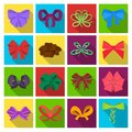 Ribbon, basma, bandage, and other web icon in flat style.Textiles, decor, bows, icons in set collection.