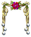 Ribbon-bell frame Royalty Free Stock Photo