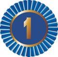 Ribbon Blue No 1 Vector Royalty Free Stock Image
