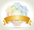 Ribbon with certificate vintage ornament Royalty Free Stock Photo