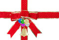 Ribbon and christmas ornament Royalty Free Stock Photo