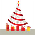 Ribbon christmas tree Royalty Free Stock Photography