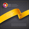 Ribbon cover design template vector Royalty Free Stock Image