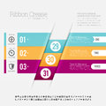Ribbon crease infographic vector illustration of design element Royalty Free Stock Images