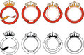 Ribbon & Crown Set Royalty Free Stock Photo