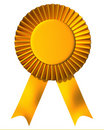 Ribbon first place award Royalty Free Stock Photo
