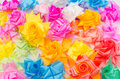 Ribbon flower fold are colorful Stock Photo