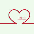 Ribbon in the form of heart with shadow and space for text flat design banners graphic or website layout template red Royalty Free Stock Photos