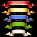 Ribbon frame set with adjusting length 2 Royalty Free Stock Photography