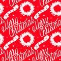 Ribbon with inscription merry christmas wreath