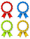 Ribbon medallions Royalty Free Stock Image