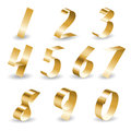 Ribbon number set Royalty Free Stock Photography