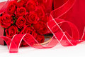 Ribbon with Roses Stock Photography