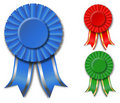 Ribbon rosettes Stock Photo
