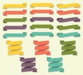 Ribbon Scroll Banner Vector Set Royalty Free Stock Photo