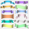 Ribbon Scroll in pastel tones Royalty Free Stock Images