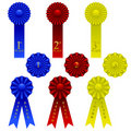 Ribbon set Stock Photography