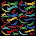 Ribbon Set - Multiple Colors Royalty Free Stock Photo