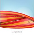 Ribbon spain flag on background sky Stock Image