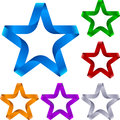 Ribbon star Royalty Free Stock Photos