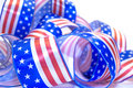 Ribbon USA flag. Stock Image