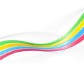Ribbon wave background Royalty Free Stock Photo
