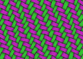 Ribbon weave detailed texture of in green and magenta colors Royalty Free Stock Images