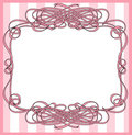 Ribbon wrapped frame Royalty Free Stock Images