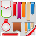 Ribbons, arrows and banners Royalty Free Stock Photo