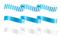 Ribbons in bavarian colors Stock Image